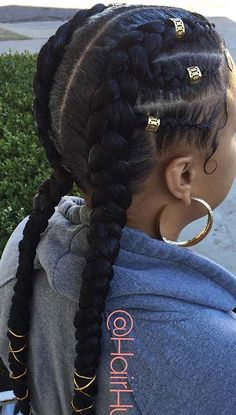 23 Two Braids Hairstyles Perfect for Hot Summer Days – Braided hairstyles Box Braids Hairstyles, Sporty Hairstyles, Side Swept Hairstyles, Kids Braided Hairstyles, Braided Ponytail, African Hairstyles, Girl Hairstyles, Hairstyle Ideas, Afro Ponytail