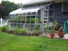 Garage with greenhouse attached :)