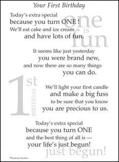 baby's first birthday poems for girls | 1st Birthday Poem Scrapbook Sticker