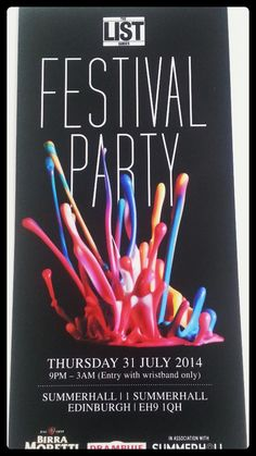 The Festival Party, JAC Vapour shall be there. Come and get your free sample #thelist #edinburghfestival #jacvapour