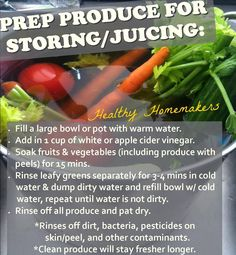 Juice Prep Veggies  Fruits