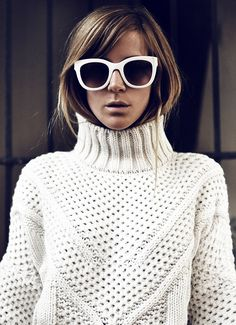 White on White - Emma Elwin - I really like this pattern and style of sweater.