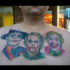 Jokers trilogy tattoo Jokers, Watercolor Tattoo, Tattoos, Art, Art Background, Tatuajes, Joker, Tattoo, Kunst