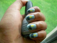 so so rad!     Base Color- China Glaze in Sea Spray  Clouds- Franken  Lightning- Sally Hansen Hard as Nails XtremeWear in Mello Yello