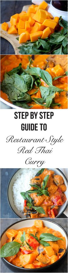 Make Restaurant Style Red Thai Curry at home using few simple ingredients under an hour. It's a one pot recipe that can be adapted to fit vegan and gluten-free lifestyle.