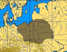 Swiderian culture: Map showing the area inhabited by the Swiderian culture.