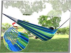 Funlife Multicolor Hammock for Cotton Canvas Hammock Double Person Camping Hammock >>> You can get additional details at the image link.