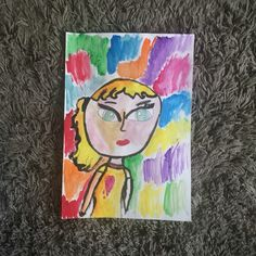 Selfportrait-Tempera colors and canson paper (8yrs. old)