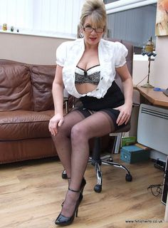 Hot ladies clad in pumps nylons girdles corsets bullet bra