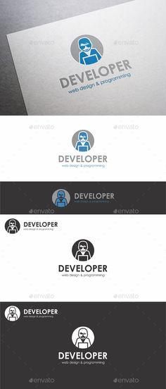 Web Developer Logo. Web Design Agency logo template ¨C Simple and clean logo. Is an illustrative logo template that suitable for de