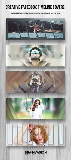 Creative Facebook Timeline Covers Vol.02 - #Facebook Timeline #Covers #Social Media Download here: https://graphicriver.net/item/creative-facebook-timeline-covers-vol02/19755273?ref=alena994