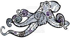 Octopus Origami by artshell.deviantart.com on @DeviantArt