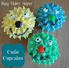 Different monster party ideas on this blog for the children! Cupcake monsters; watermelon monster; and toothy sandwiches!
