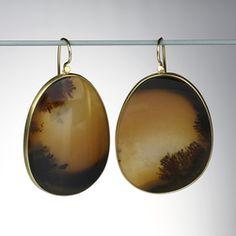 Lola Brooks Agate earrings at Quadrum