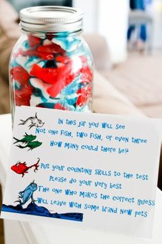 Candy Crate : Thing 1, Thing 2 a baby shower for two!~ saving ideas for my roommate that is havung twin girls