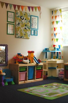 church nursery after a makeover - some cute decor ideas on the link