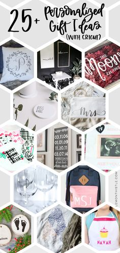 25 awesome DIY personalized gift ideas using Cricut- from adding names to bags and doormats to etching glass. these are rad! Diy Vinyl Projects, Vinyl Crafts, Homemade Christmas Gifts, Homemade Gifts, Diy Leather Pouches, Craft Gifts, Diy Gifts, Grandpa Birthday Gifts, Make Your Own Card