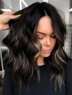Fall Blonde Hair, Brunette Hair, Hair Color For Black Hair, Dark Hair, Black Hair With Highlights, Black Hair With Blonde Highlights, Balayage Hair, Dark Balayage, Hair Looks