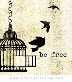 For all of the caged birds – let's break outta there…. by Melody Ross