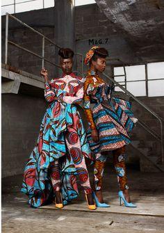 www.cewax.fr aime african prints ethno tendance Ankara ❤mixing prints ankara style!