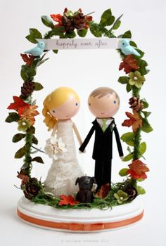 Cutest wedding cake toppers ever!