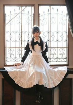 メイドさん Maid Cosplay, Lolita Cosplay, Cute Cosplay, Cosplay Outfits, Cosplay Girls, Maid Outfit, Maid Dress, Victorian Maid, Anime Maid