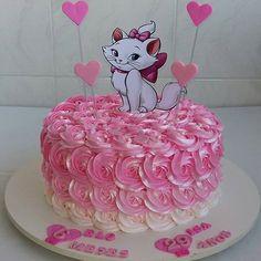 Paw Patrol Birthday, Cat Birthday, Birthday Cake, Aristocats Party, Kitten Cake, Baptism Party Decorations, Marie Cat, Cake Hacks, Disney Cakes