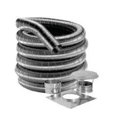 """DuraVent 7DF316-20K 7"""" Inner Diameter - DuraFlexSS 316 Flexible Liner Chimney Pi Stainless Steel Vent Pipe Flexible Liner Kit"""