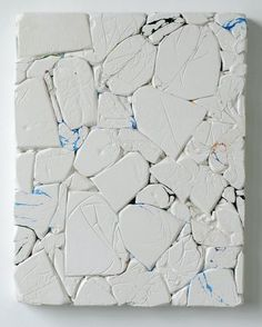 """""""Press #1072"""" (2011) plaster and plastic on wood by Emil Lukas Photo: Unknown, Hosfelt Gallery / SF"""