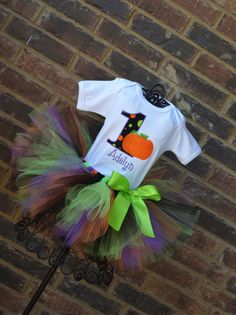 Little Pumpkin Birthday Tutu Outfit by TickleMyTutu on Etsy, $49.95