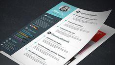 Apprenez à créer un template de CV graphique. #curriculumvitae #photoshop #tutorial