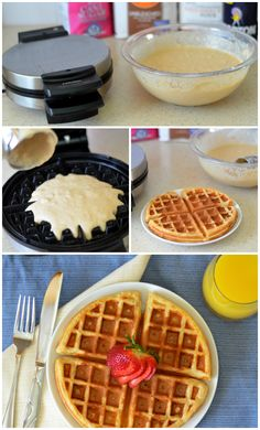 Homemade Waffles **This is now my go-to waffle recipe.  SO GOOD!!**