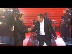 """Johnny Hallyday et Julien Clerc """"Je veux te graver dans ma vie""""  2014"""