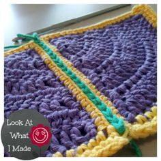 Transcendent Crochet a Solid Granny Square Ideas. Inconceivable Crochet a Solid Granny Square Ideas. Love Crochet, Crochet Motif, Crochet Designs, Crochet Yarn, Crochet Stitches, Single Crochet, Filet Crochet, Joining Crochet Squares, Point Granny Au Crochet
