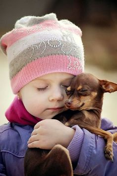 """""""You're my happy doggie!"""" #dogs #pets #Chihuahuas #children facebook.com/sodoggonefunny"""