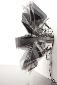 artist David Letellier: kinetic sound sculpture entitled 'Versus'