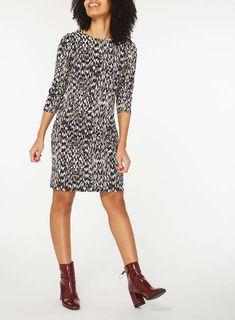 Animal Print Shift Dress - View All Dresses - Dresses - Dorothy Perkins