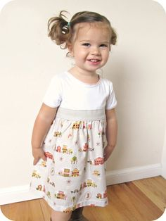 DIY T-shirt dress for girls
