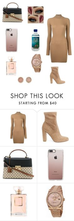 """Nude 😆"" by dajahknox ❤ liked on Polyvore featuring adidas Originals, Steve Madden, Gucci, Casetify, Chanel, Rolex and Michael Kors"