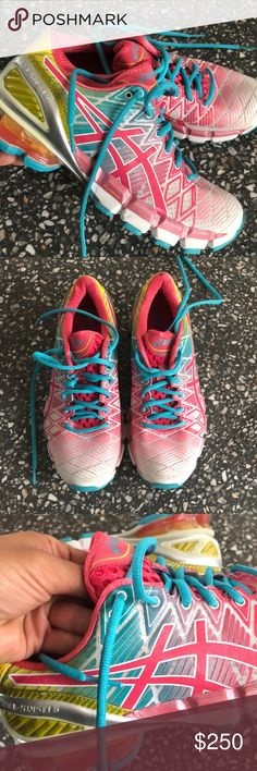 "4dc5be4ba ASICS GEL-KINSEI 5 ""COTTON CANDY"" Rainbow Sneaker NWOB. Amazing color combo"