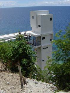Oslob House, Cebu, Philippines - this tower is the elevator shaft that descends to the spectacular beach front property.