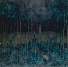 Thy young skyey blossoms, William Kurelek William Kurelek, Canadian Prairies, Naive Art, Canadian Artists, Nocturne, Banksy, Types Of Art, Color Theory, Tree Art