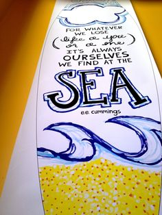 Found at Sea :: Surfboard Art by Cherilyn Colbert, via Behance