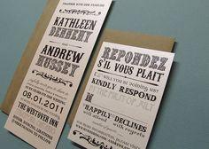 Wicked Bride Stationery: Kathleen's Playbill Wedding Invitations