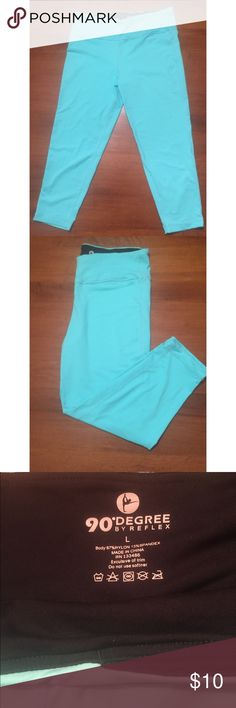 90 DEGREE by Reflex Neon Blue Yoga Pants Super cute & comfy yoga pants!! Worn once. 87% Nylon & 13% Spandex. Has small stain on back right corner which will easily come out in the wash. Priced to sell! This brand is also sold at Nordstrom. REFLEX Pants