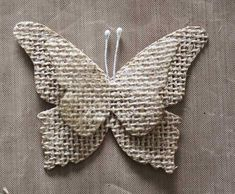 How to Make Beautiful Burlap Butterflies Butterfly Project, Butterfly Crafts, String Crafts, Burlap Crafts, Diy Crafts For Adults, Crafts To Make And Sell, Diy Crochet Elephant, Felted Wool Crafts, Burlap Projects