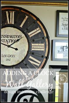 ADDING A CLOCK TO A WALL GALLERY AND A GIVEAWAY - StoneGable