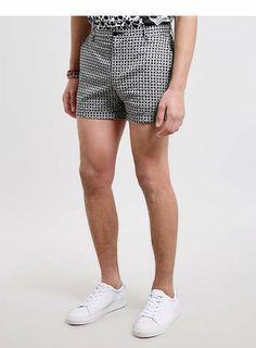 31fff4f1c13 Black and White Printed Micro Shorts Oděvní Návrhářství