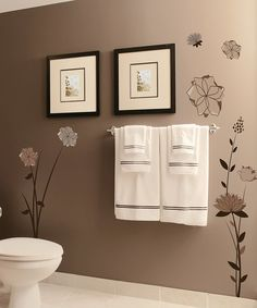 Black & Brown Flowers Wall Decals
