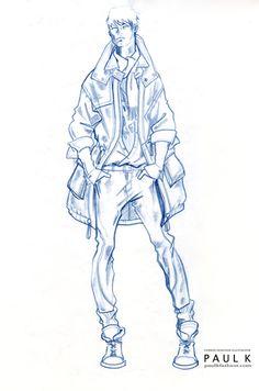 Fashion Illustration Tutorial, Fashion Illustration Dresses, Illustration Art, Fashion Illustrations, Fashion Sketchbook, Fashion Sketches, Fashion Drawings, Fashion Art, Mens Fashion